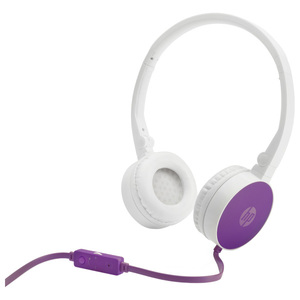 Casti audio cu microfon HP H2800, 3.5mm, alb-violet