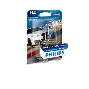 Bec auto PHILIPS H4 RacingVision+150% 12V 60/55W