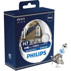 Set 2 becuri auto PHILIPS H7 RacingVision+150% 12V