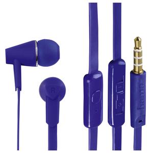 Casti HAMA Joy 135651, Cu Fir, In-Ear, Microfon, albastru