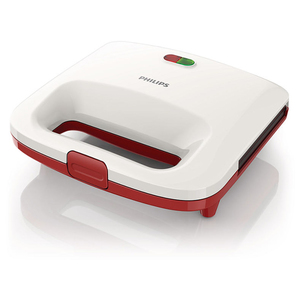 Prajitor de sandwich-uri PHILIPS Daily Collection HD2392/40, 820W, alb - rosu