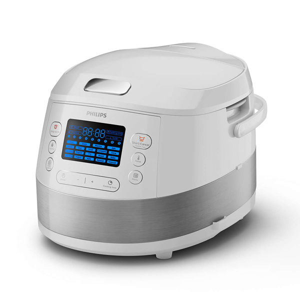 Multicooker PHILIPS Viva Collection HD4731/70, 5l, 980W, functie Slow Cooking, alb