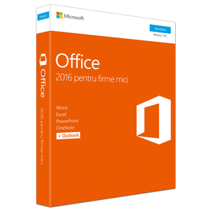 Microsoft Office Home and Business 2016, Windows PC, Romana EuroZone, Medialess P2