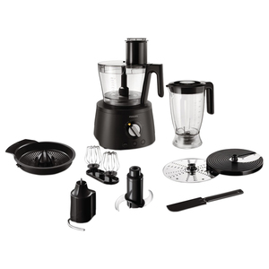 Robot de bucatarie PHILIPS Avance Collection HR7776/90, vas 2.4l, blender 1.5l, 1300W, negru