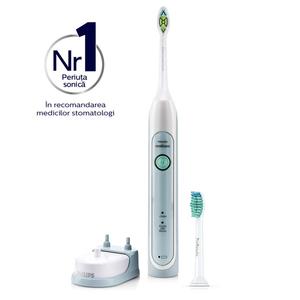 Periuta de dinti electrica PHILIPS Sonicare HealthyWhite HX6712/43, 31.000 miscari de curatare/minut, verde