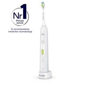 Periuta de dinti electrica PHILIPS Sonicare HealthyWhite+ HX8911/01, 62.000 miscari de curatare/minut, alb