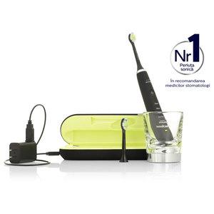 Periuta de dinti electrica PHILIPS Sonicare Diamond Clean HX9352/04, 62.000 miscari de curatare/minut, negru