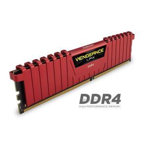 Memorie desktop Corssair Vengeance LPX Red, 16GB (4x4GB) DDR4, 2133MHz, CL13, CMK16GX4M4A2133C13R