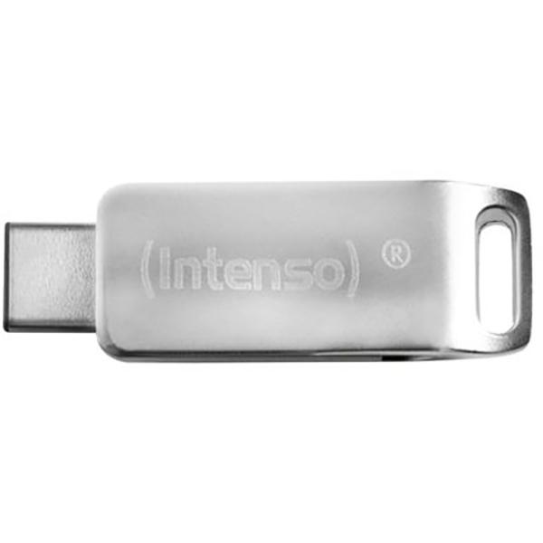 Memorie portabila INTENSO cMOBILE line 3536480, 32GB, USB 3.0 & TypeC, argintiu