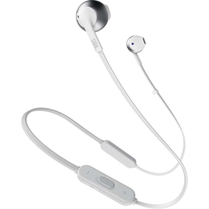Casti JBL JBLT205BTSIL, microfon, in ear, wireless, alb