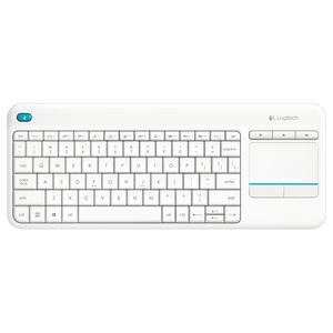 Tastatura Wireless LOGITECH Touch K400 Plus, USB, Layout US INT, alb