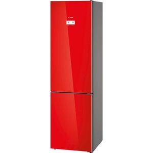 Combina frigorifica BOSCH KGN39LR35, No Frost, 366 l, H 203 cm, Clasa A++, rosu