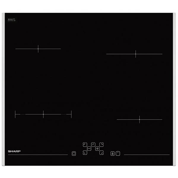 Plita incorporabila SHARP KH-6V08FT00, electrica, 5900W, negru