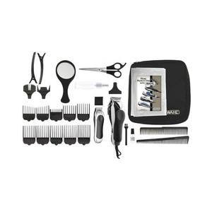 Kit de ingrijire WAHL ChromePro Deluxe 79524-2716, lame otel, autoascutire, 10 accesorii, negru - gri
