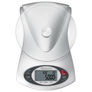 Cantar digital de bucatarie MEDISANA KS220 40467, 5kg, afisaj LCD, ceas si termometru