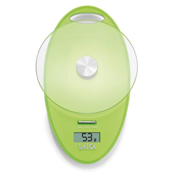 Cantar de bucatarie LAICA KS1005, electronic, 3Kg, verde