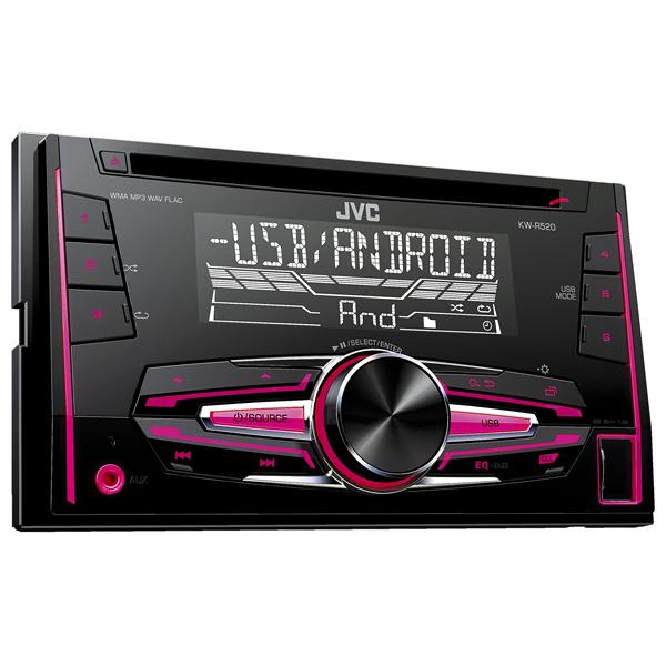 Radio CD auto JVC KW-R520, 4x50W, USB, vario color