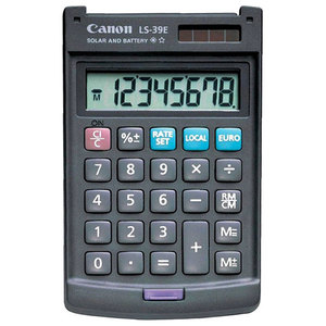 Calculator de birou CANON LS-39E, 8 cifre, gri inchis
