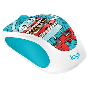 Mouse Wireless LOGITECH M238, 1000 dpi, Skateburger