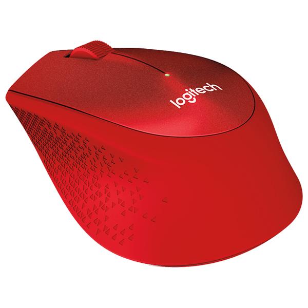 Mouse Wireless LOGITECH M330 Silent, 1000 dpi, rosu