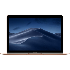 "Laptop APPLE MacBook 12 mrqn2ze/a, Intel Core m3 pana la 3.0GHz, 12"" IPS Retina, 8GB, SSD 256GB, Intel HD Graphics 615, macOS Mojave, Layout INT, Gold"