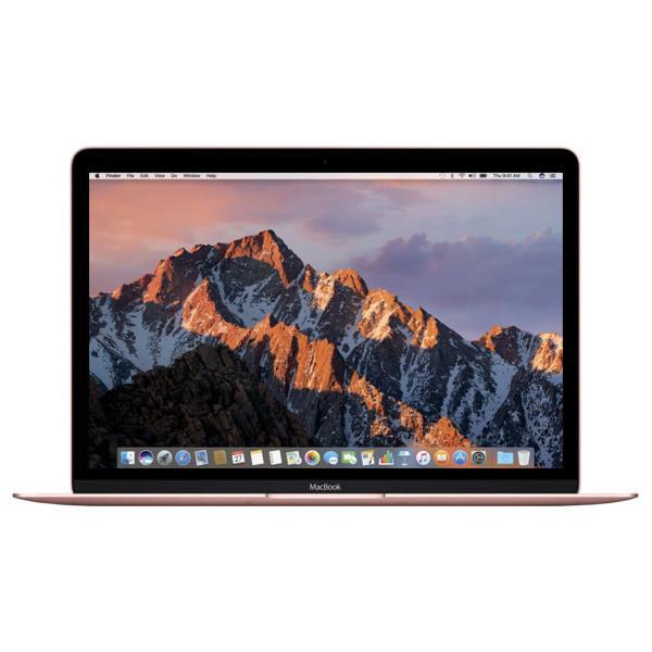 "Laptop APPLE MacBook 12"" Retina Display mnym2ze/a, Intel® Core™ m3 pana la 3.0GHz, 8GB, 256GB, Intel HD Graphics 615, MacOS Sierra, Rose Gold - Tastatura layout INT"