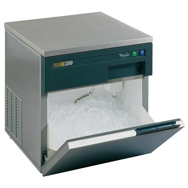 Masina profesionala de facut cuburi gheata WHIRLPOOL AGB 022, 24kg/24h, argintiu