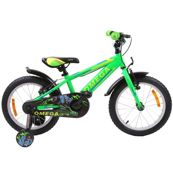 "Bicicleta copii Omega Master 2018, 16"", verde"