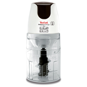 Mini tocator TEFAL Masterchop XL MB450B38, 0.5l, 500W, 1 treapta viteza, alb-negru