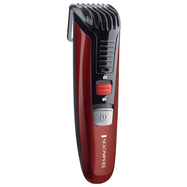 Aparat de tuns barba REMINGTON Beard Boss Styler MB4125, acumulator, rosu