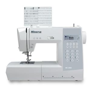 Masina de cusut MINERVA MC250C, 197 cusaturi, 8 tipuri de butoniere