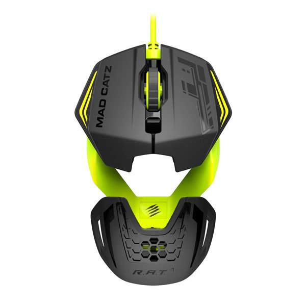 Mouse gaming MAD CATZ RAT 1 Green, 3500 dpi, verde