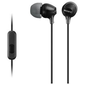 Casti SONY MDR-EX15APB, Cu Fir, In-Ear, Microfon, negru