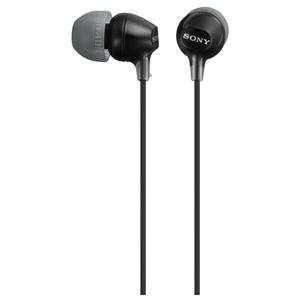Casti SONY MDR-EX15LPB, Cu Fir, In-Ear, negru
