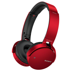Casti SONY MDR-XB650BTL, Bluetooth, NFC, On-Ear, Microfon, Extra-BASS, Rosu