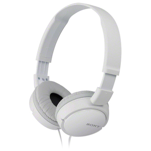 Casti SONY MDR-ZX110W, Cu Fir, On-Ear, alb