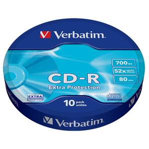 CD-R VERBATIM 43725, 52x, 700MB, 10buc