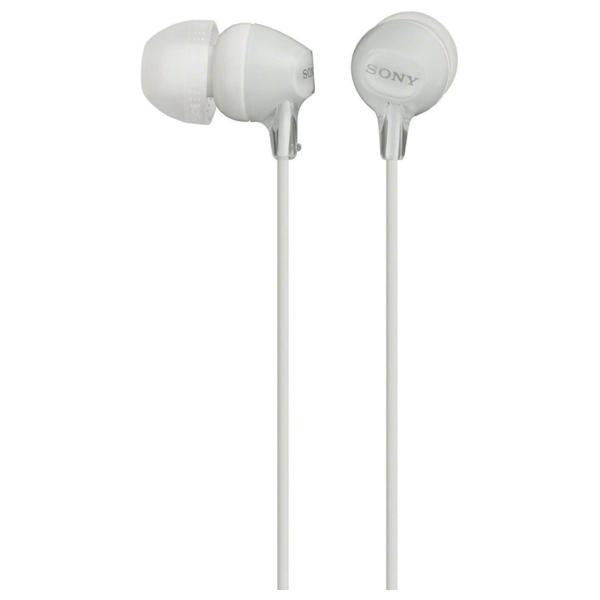 Casti SONY MDR-EX15APW, Cu Fir, In-Ear, Microfon, alb