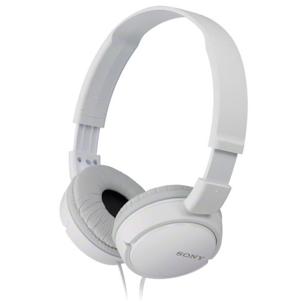 Casti SONY MDR-ZX110APW, Cu Fir, On-Ear, Microfon, alb