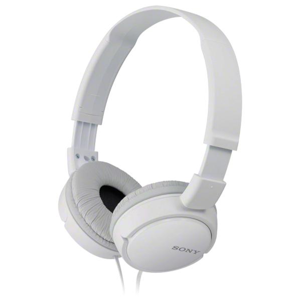 Casti SONY MDR-ZX110APW, microfon, on ear, cu fir, alb