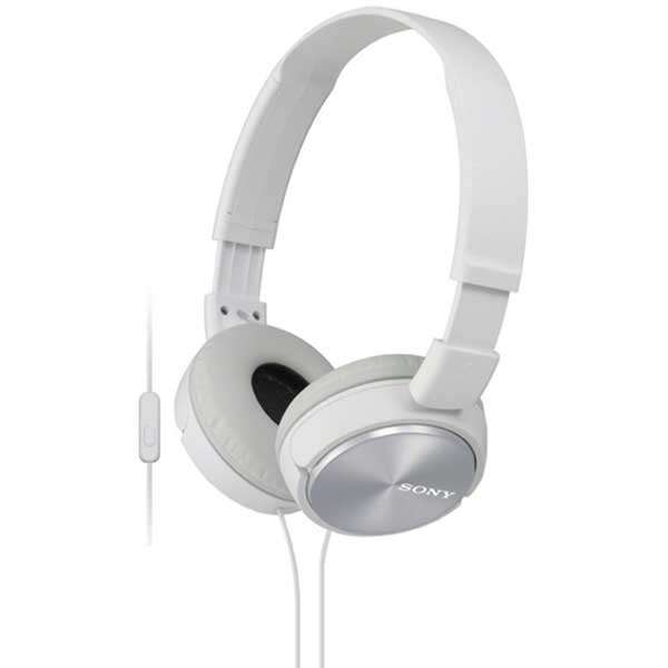 Casti SONY MDR-ZX310APW, Cu Fir, On-Ear, Microfon, alb