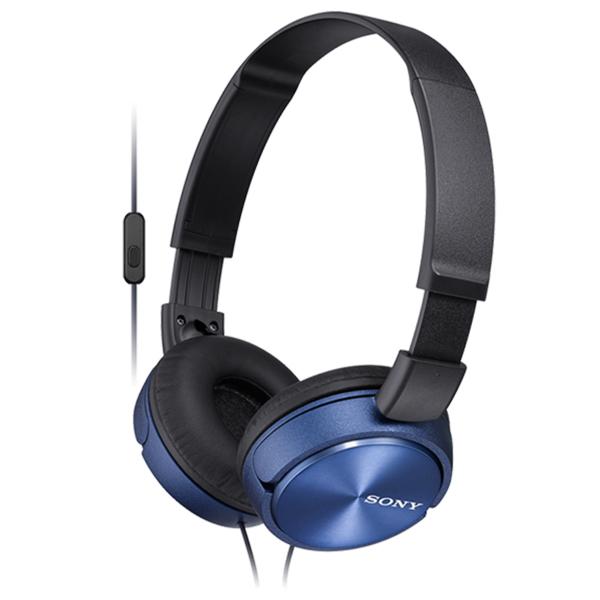 Casti SONY MDR-ZX310APL, Cu Fir, On-Ear, Microfon, albastru