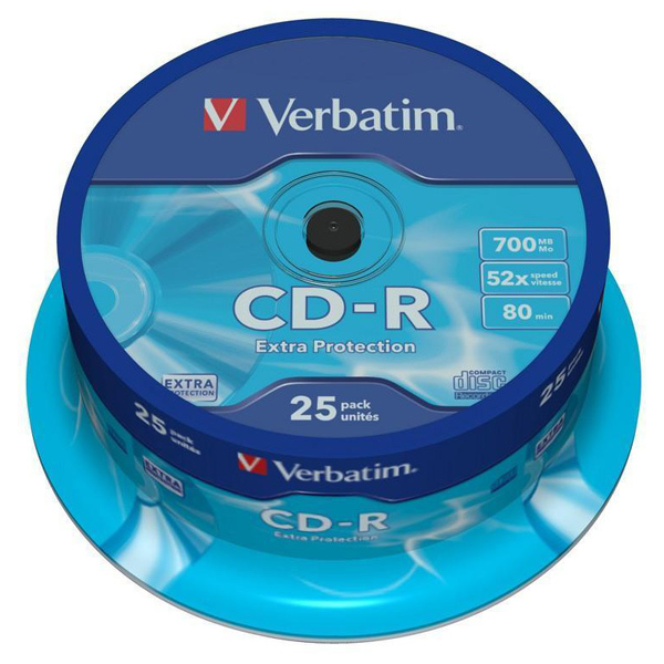 CD-R VERBATIM 43432, 52x, 700MB, 25buc