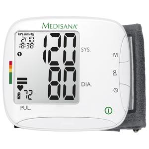 Tensiometru digital de incheietura MEDISANA BW333 51075, 120 memorii, alb
