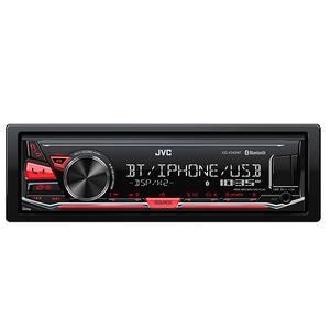 Media receiver auto JVC KD-X342BT, 1DIN, 4x50W, USB, Bluetooth, iluminare rosie