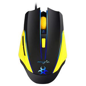 Mouse Gaming MYRIA MG7507, 2500 dpi, negru-galben