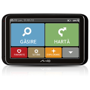 Sistem de navigatie GPS MIO Spirit 6970 EU Truck LT, CSR SiRFatlasV, Touchscreen 5 inch, 4 GB, miniUSB