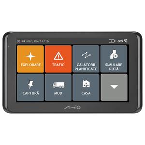 Sistem de navigatie GPS MIO Spirit 8670 LM Truck, 6.2'', mod camion Bluetooth, SmartRoutes, LearnMe Pro, Asistenta la parcare