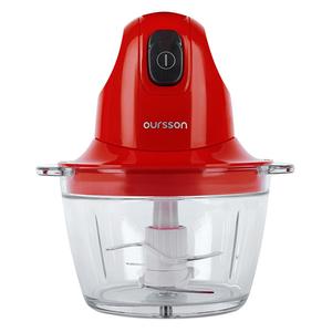 Mini tocator OURSSON CH3010/RD, 0.8l, 300W, 1 treapta viteza, rosu