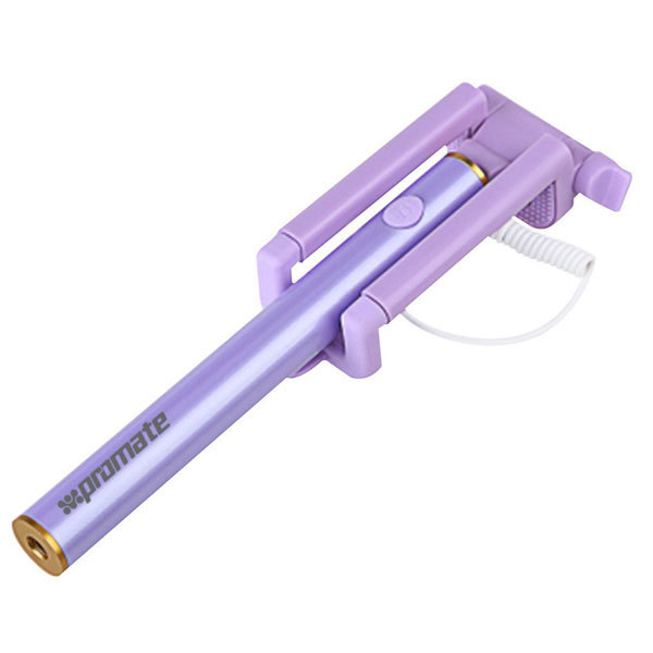 Selfie stick PROMATE miniPod, cu fir, Purple